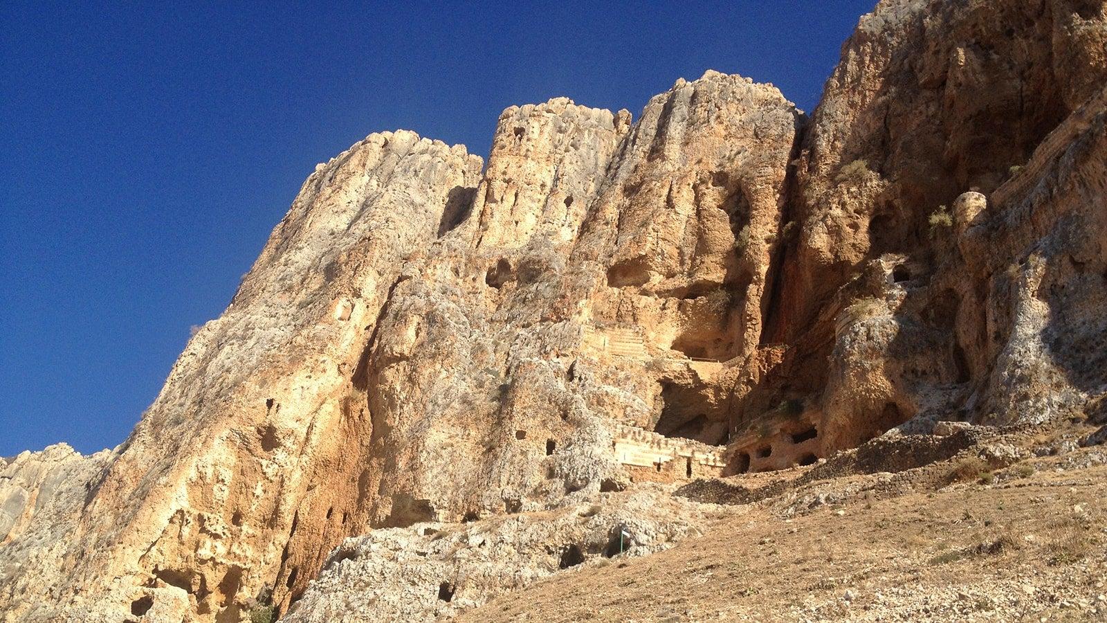 Rocks beside Sea of Galilee