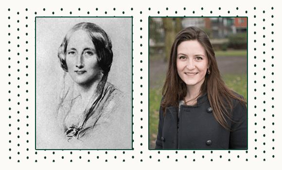 Nell Stevens and Charlotte Bronte