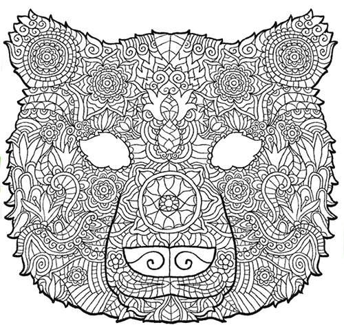 Image of colour-in Baloo mask