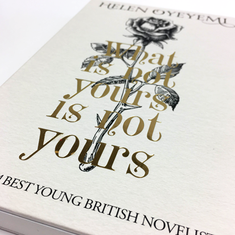 The front of the What Is Yours Is Not Yours hardback jacket.