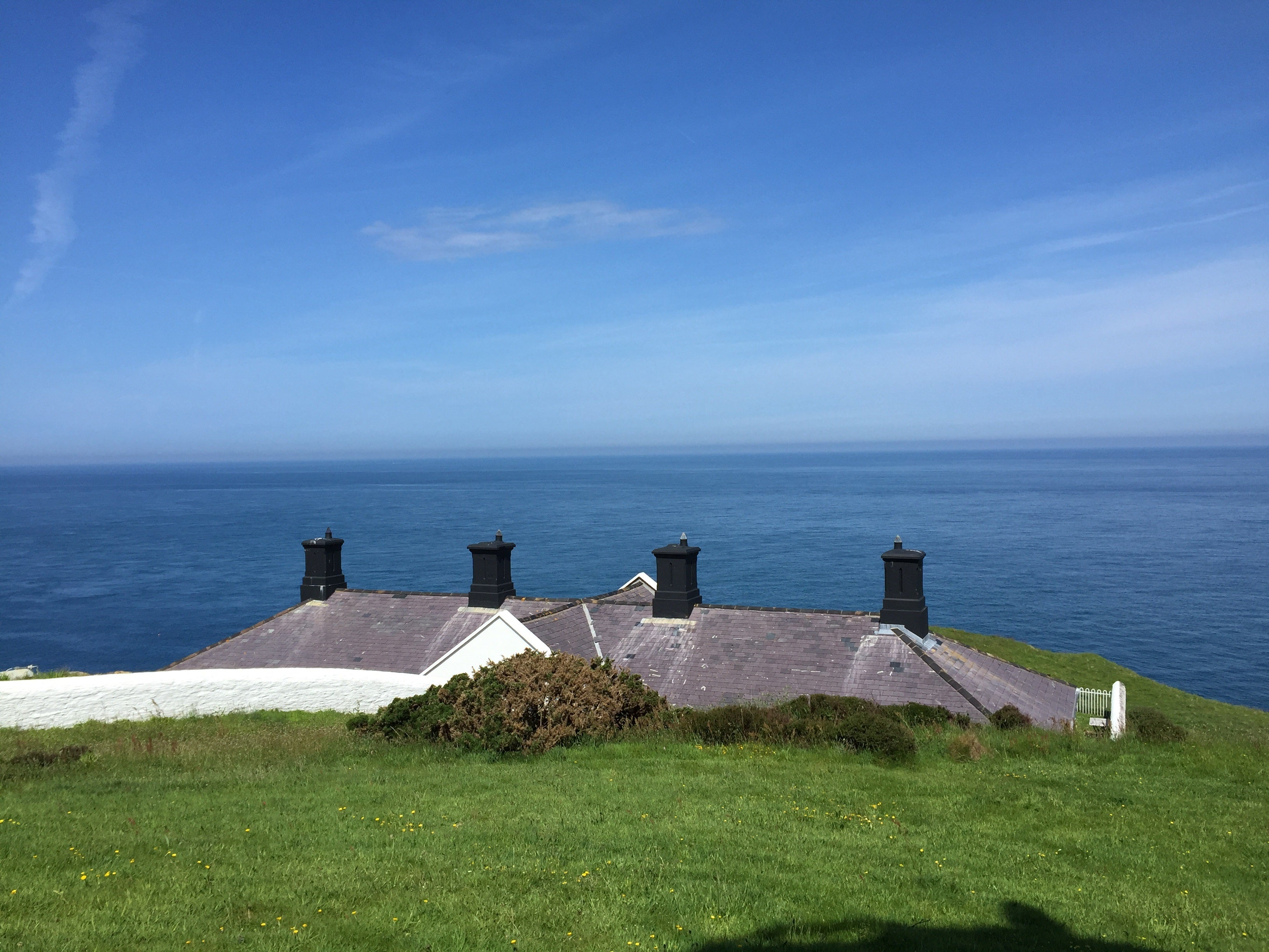 The view from the converted keepers' cottages in Devon