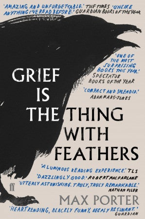 Book cover for Grief Is the Thing with Feathers