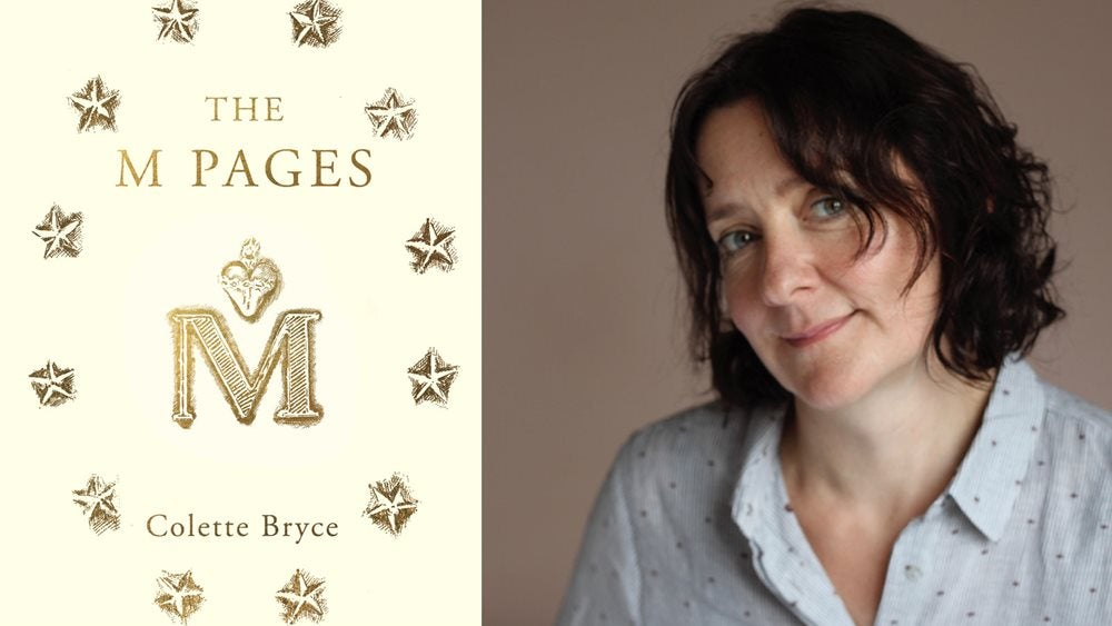 The M Pages book jacket and Colette Bryce