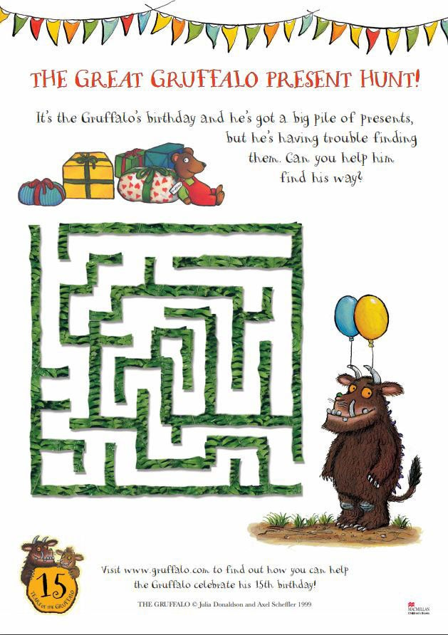 Activity sheet - maze activity sheet - The Gruffalo - Julia Donaldson - Axel Scheffler