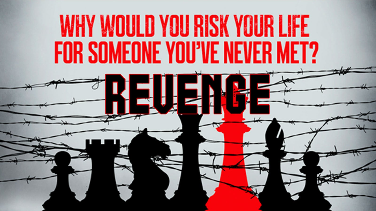 Why would you risk your life for someone you've never met? Revenge. Chess pieces in barbed wire