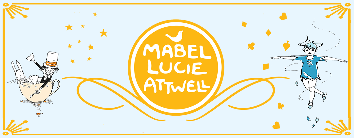 An illustrated banner celebrating Mabel Lucie Attwell.