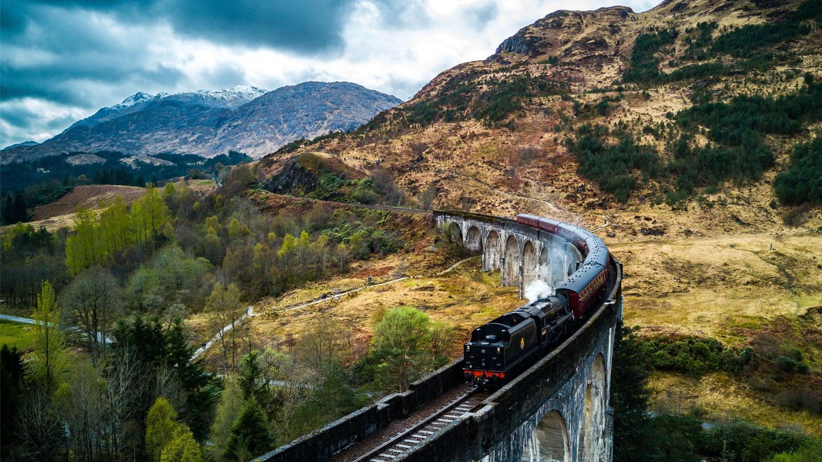 Train in St Andrews, Scotland