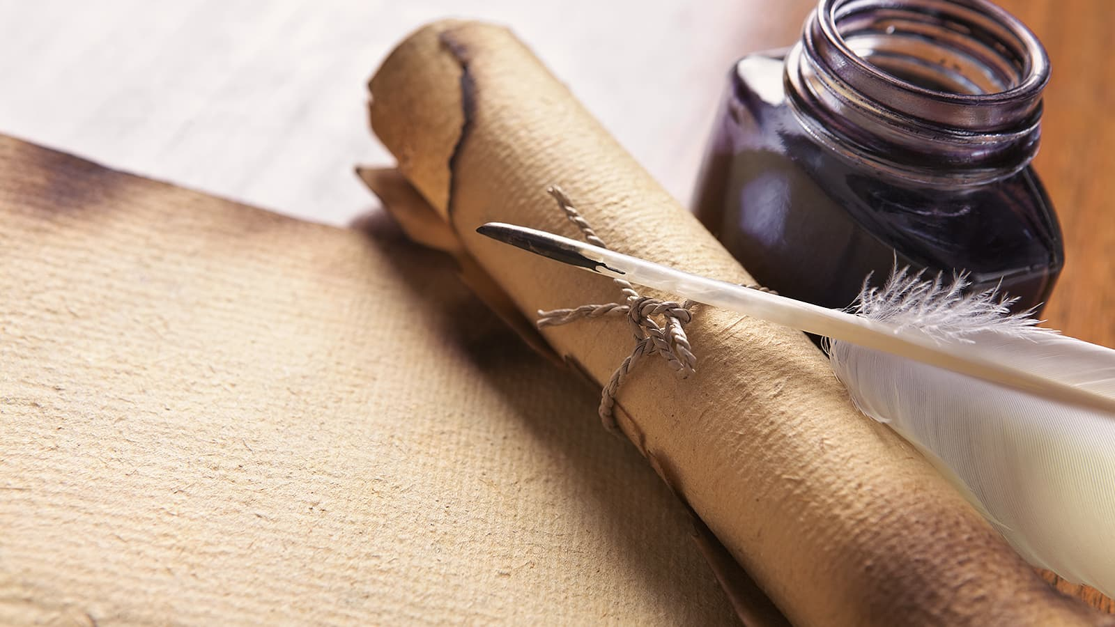 Quill ink and parchment