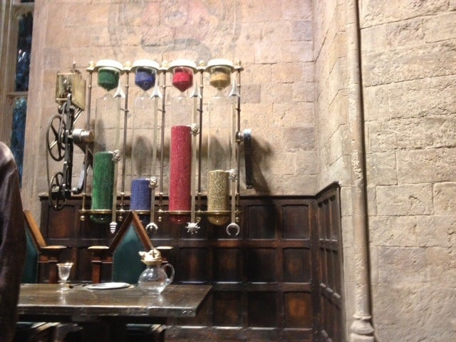Hogwarts house point hourglasses