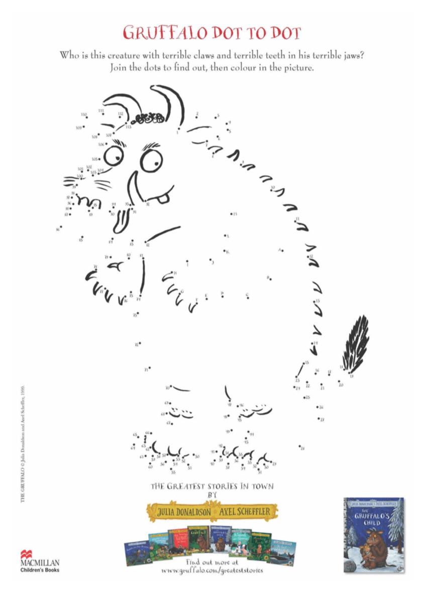 The Gruffalo dot-to-dot