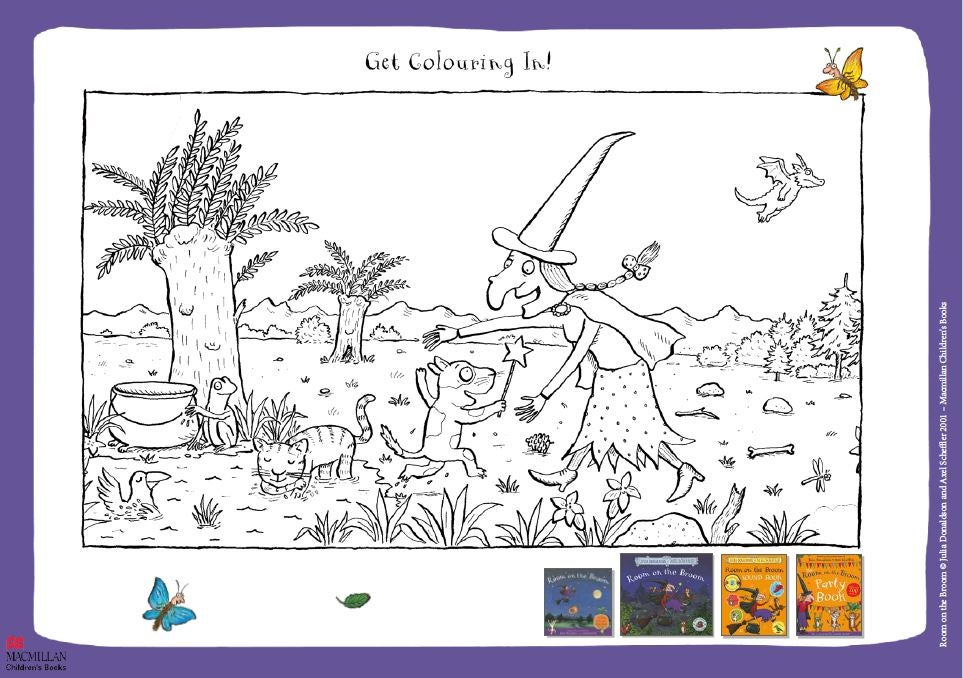 Room on the Broom colouring sheet