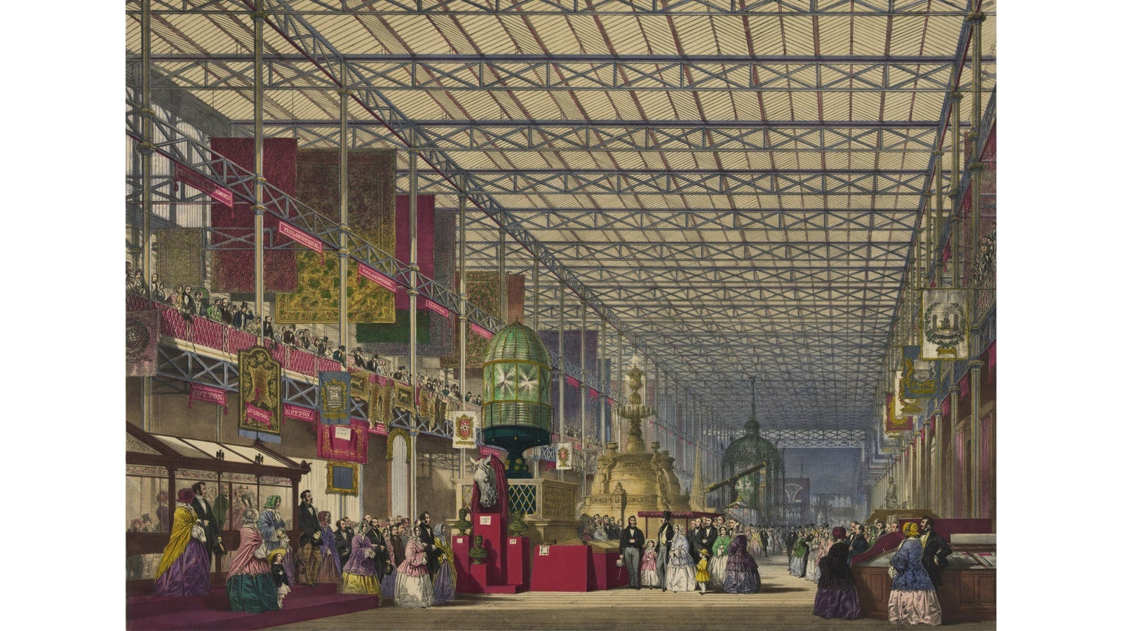 Illustration of the British nave of the Great Industrial Exhibition of 1851.