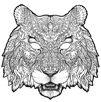 Colour-in Shere-Khan Mask