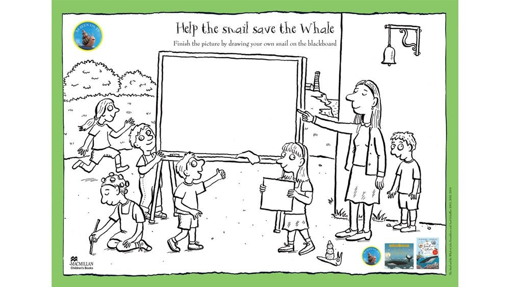 Activity sheet - Help the Snail save the Whale - The Snail and the Whale - Julia Donaldson - Axel Scheffler