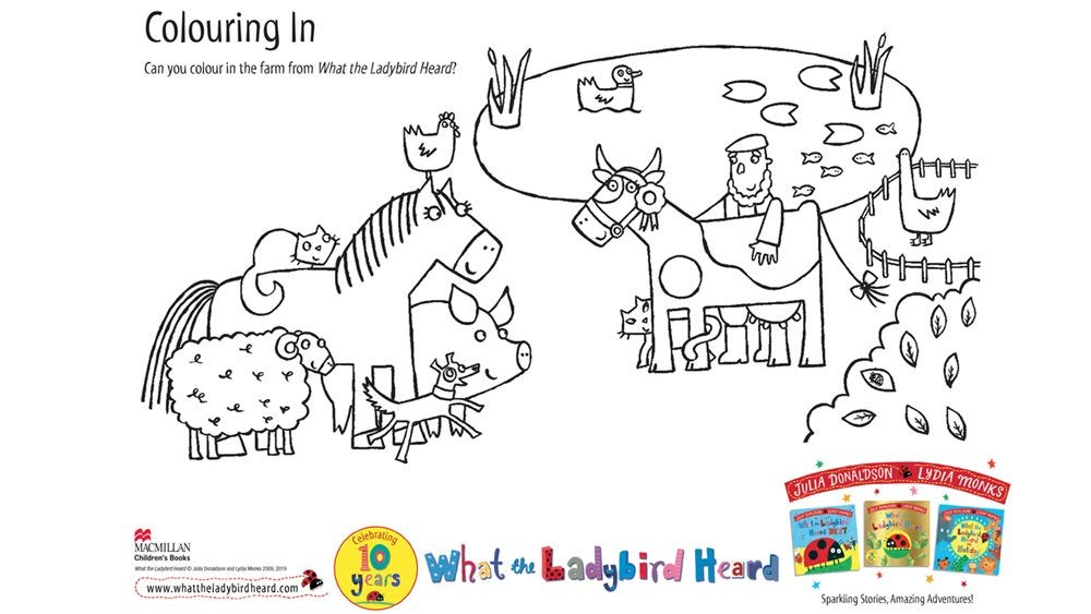 Activity Sheet  - Colouring Sheet - What The Ladybird Heard at the Seaside - Julia Donaldson
