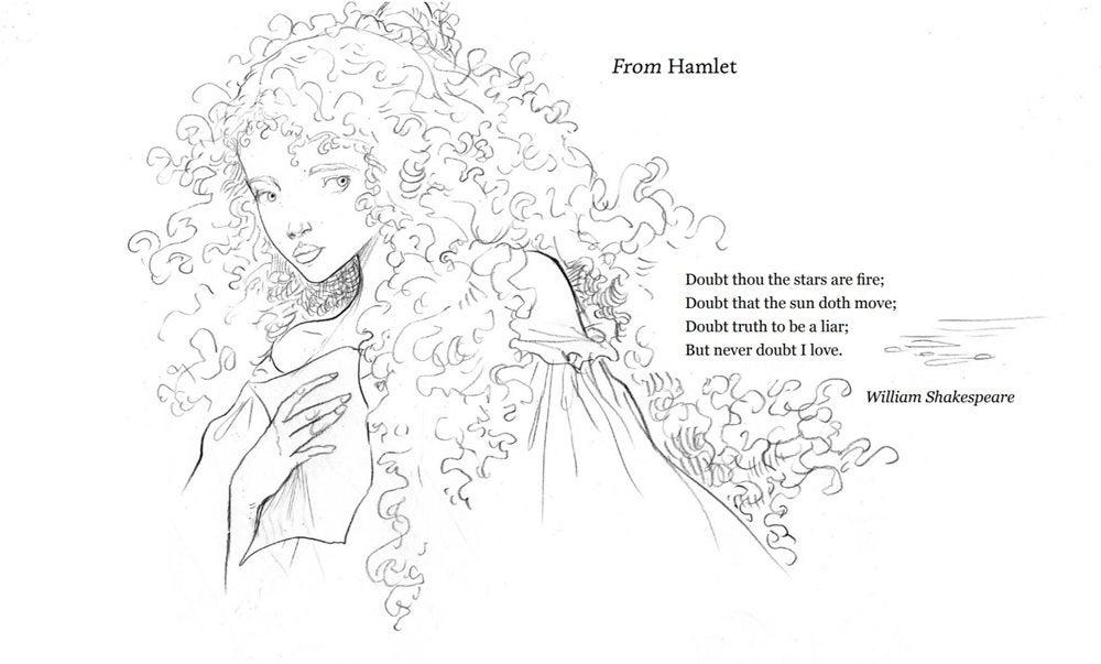 Illustration for From Hamlet illustrated by Chris Riddell