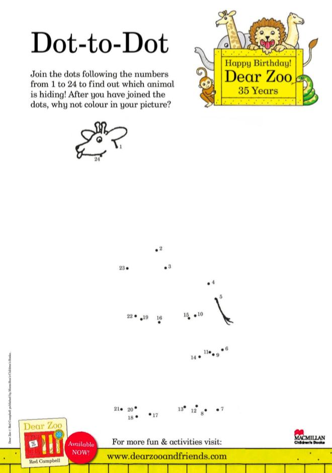 Dot-to-dot - Dear Zoo