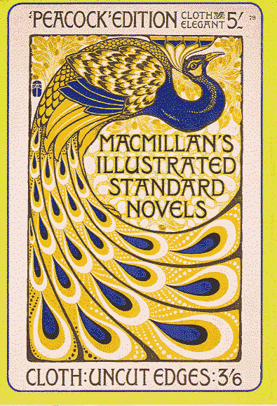 Macmillan Peacock edition advertising poster