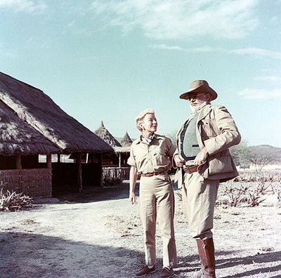 Mary and Ernest Hemingway on safari in Kenya, 1953-54