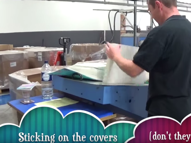 How to make a book Miranda Dickinson at the printers