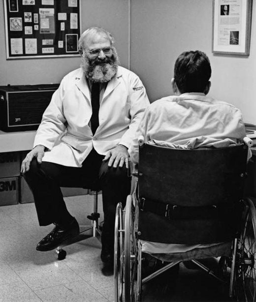 Oliver Sacks at Beth Abraham hospital around 1988