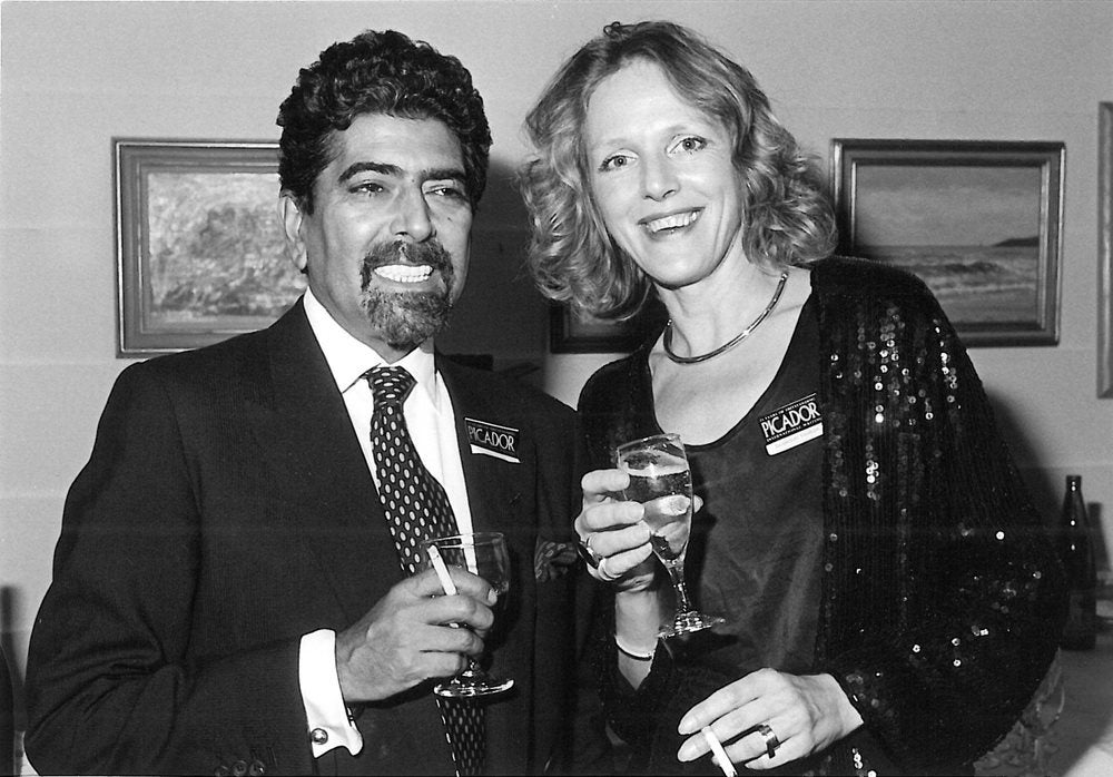 Sonny Mehta with Jacqui Graham.