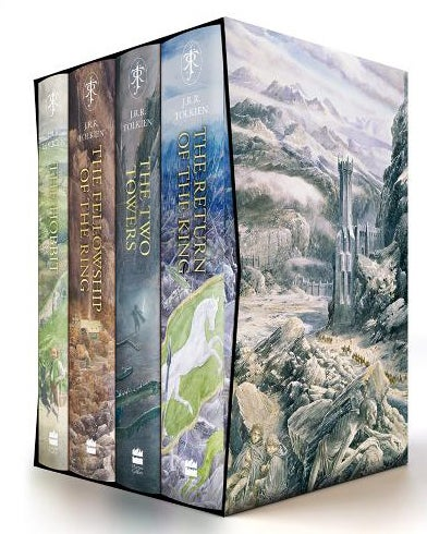 Book cover for The Lord of The Rings and the Hobbit