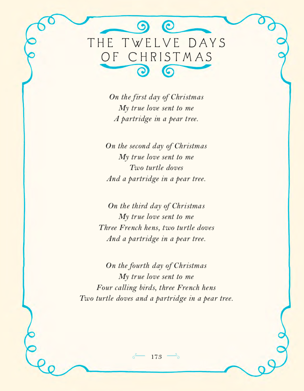 Twelve Days of Christmas song words