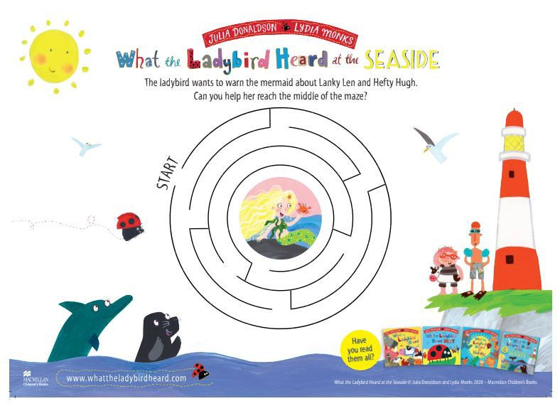 Activity Sheet  - Maze - What The Ladybird Heard at the Seaside - Julia Donaldson
