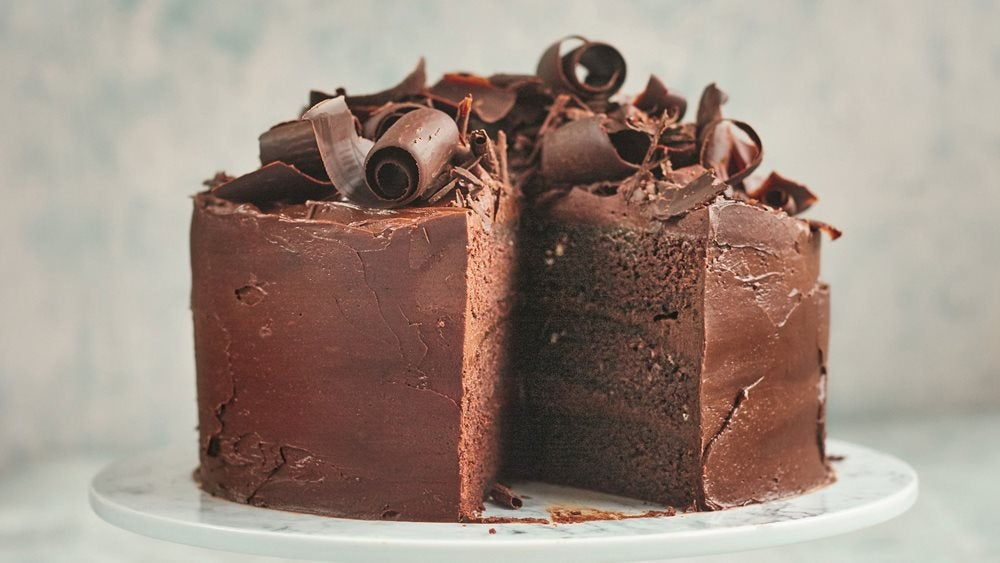 Devil's food cake chocolate cake by Prue Leith