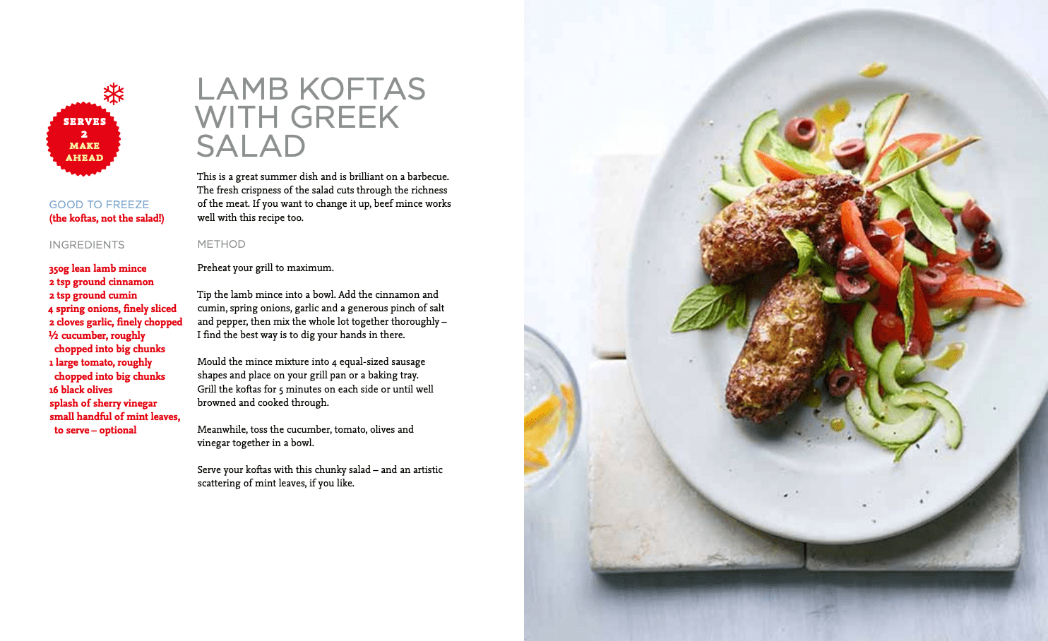 Lamb Koftas recipe Joe Wicks