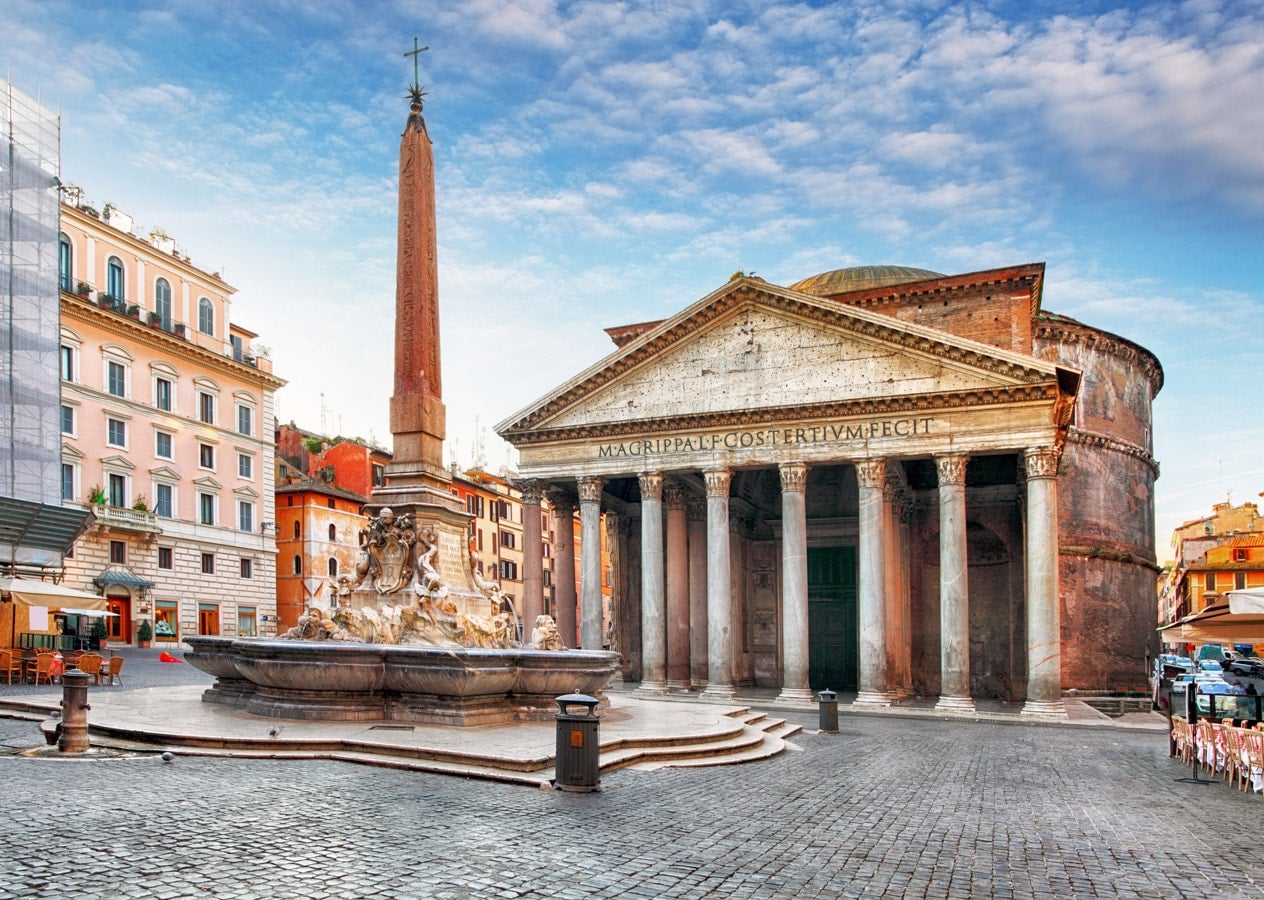 Pantheon Rome at sunset