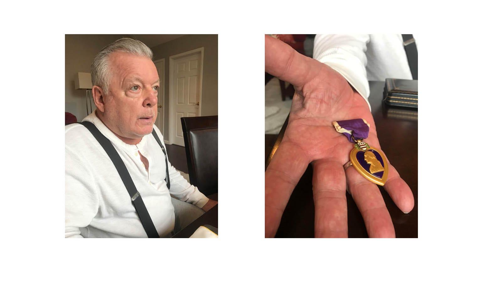 Ray Sansivero and Purple Heart USA Medal
