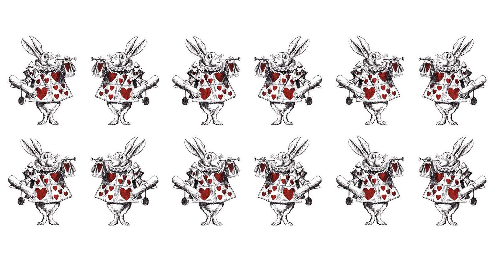 Illustration of the White Rabbit from Alice in Wonderland