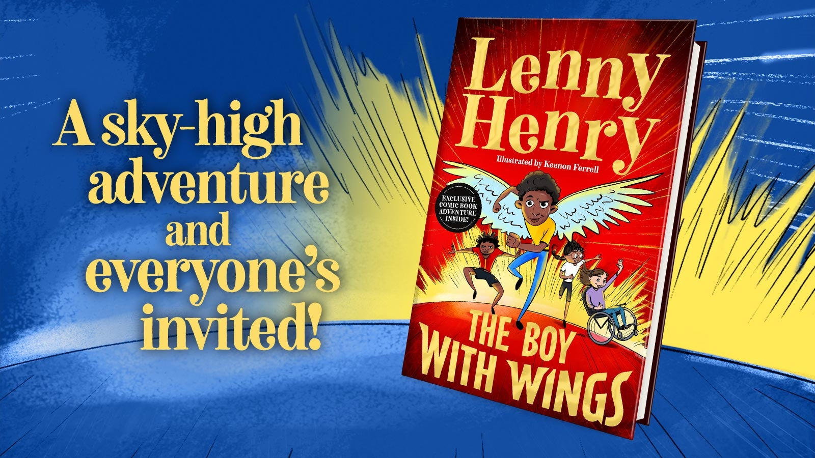 A picture of Lenny Henry's book The Boy with Wings