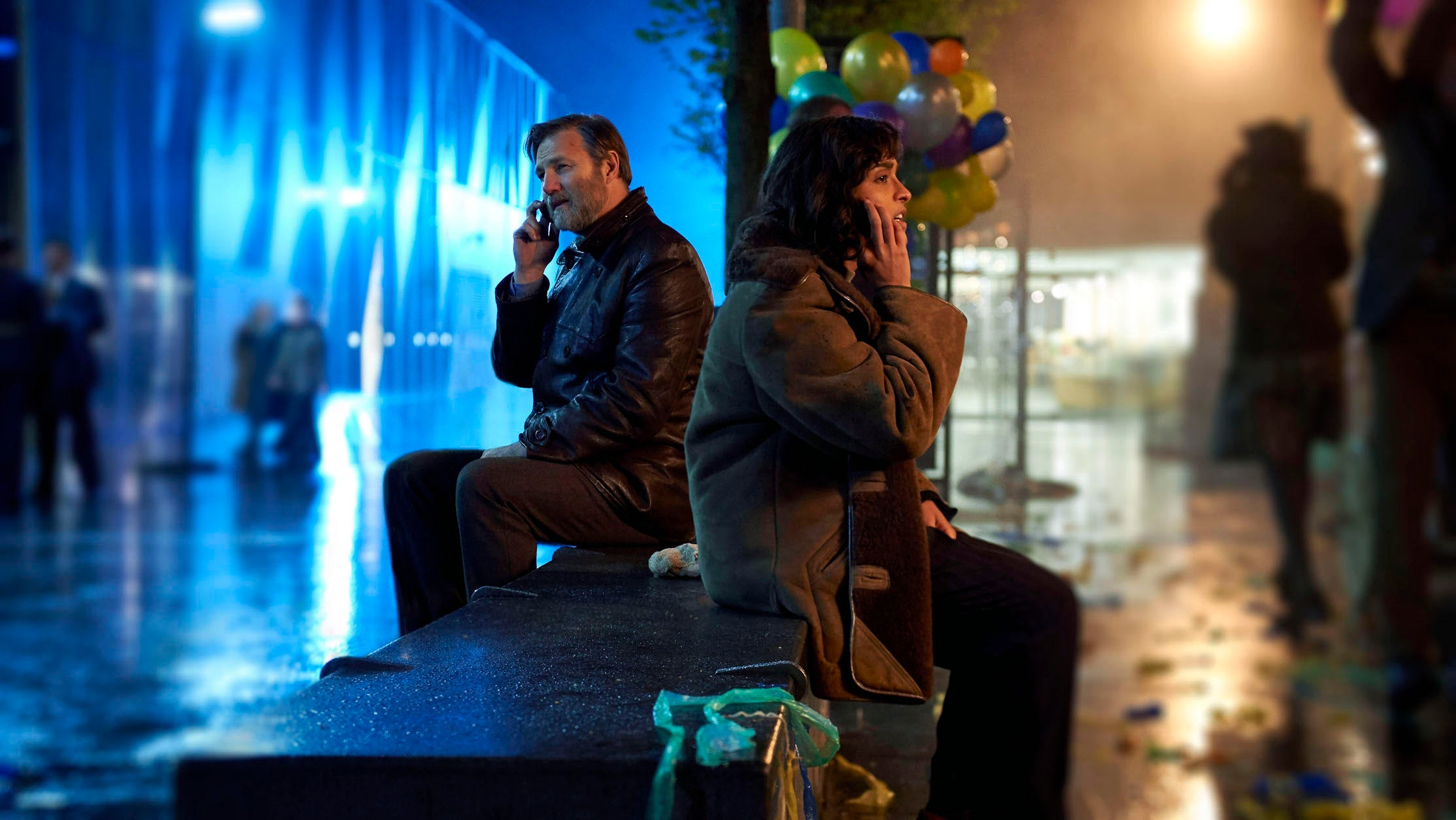 David Morrissey and Mandeep Dhillion in The City & The City