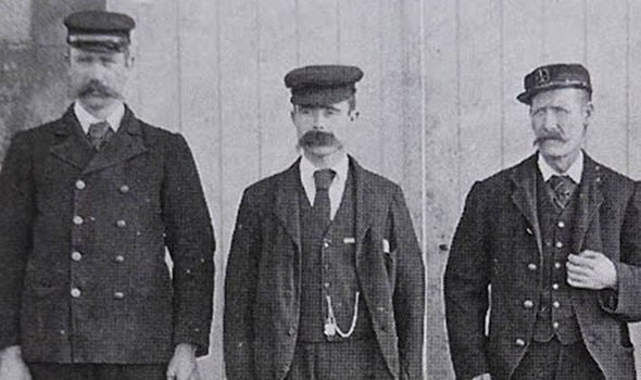Left to right: Thomas Marshall, Donald MacArthur and James Ducat.