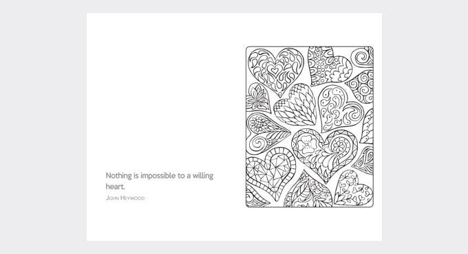 Quote colouring sheet