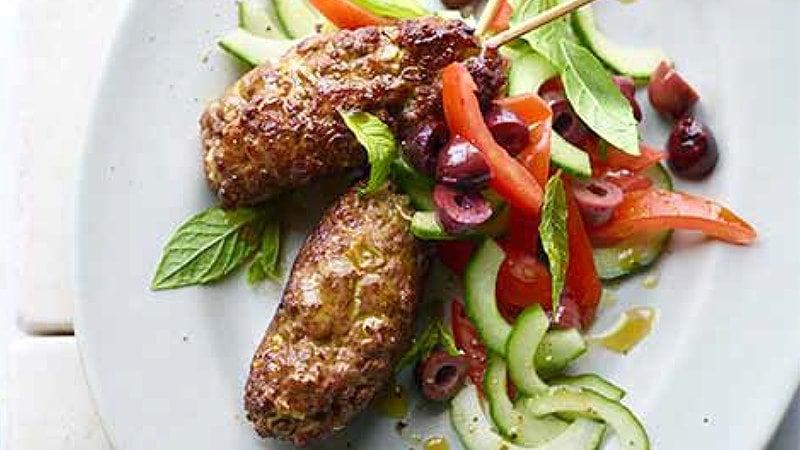 Lamb Koftas Greek Salad