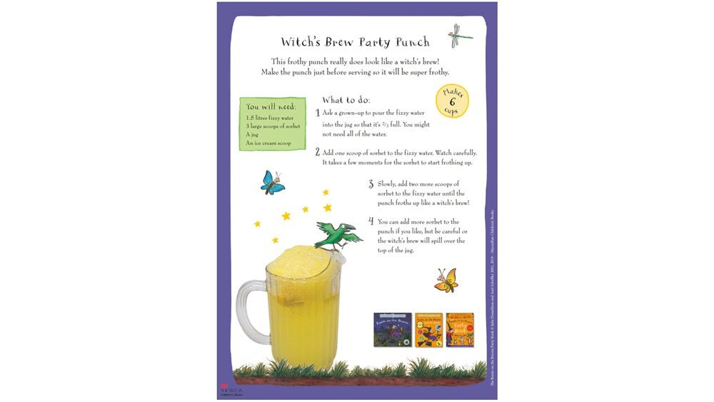 Activity Sheet - Witches Brew punch recipe