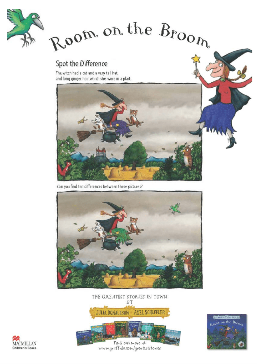 Spot the difference - Room on the Broom