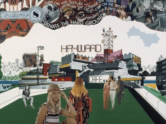 Archigram 8, June 1972, collage of Southbank and Hayward Gallery