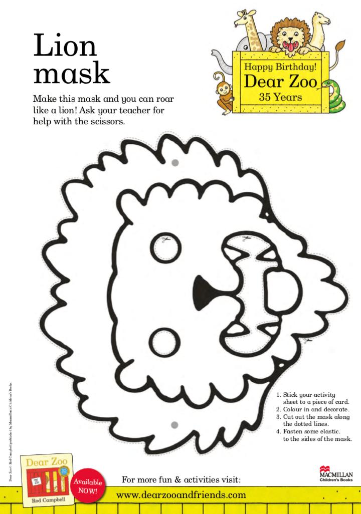 Lion Mask - Dear Zoo