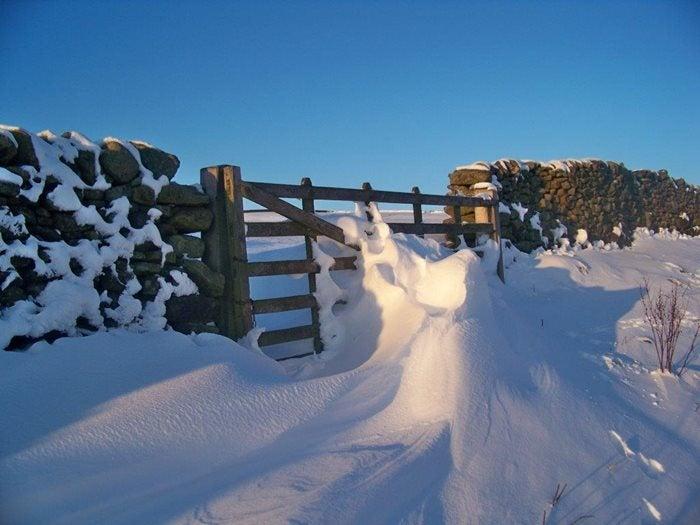 Winter at Long Preston Yorkshire