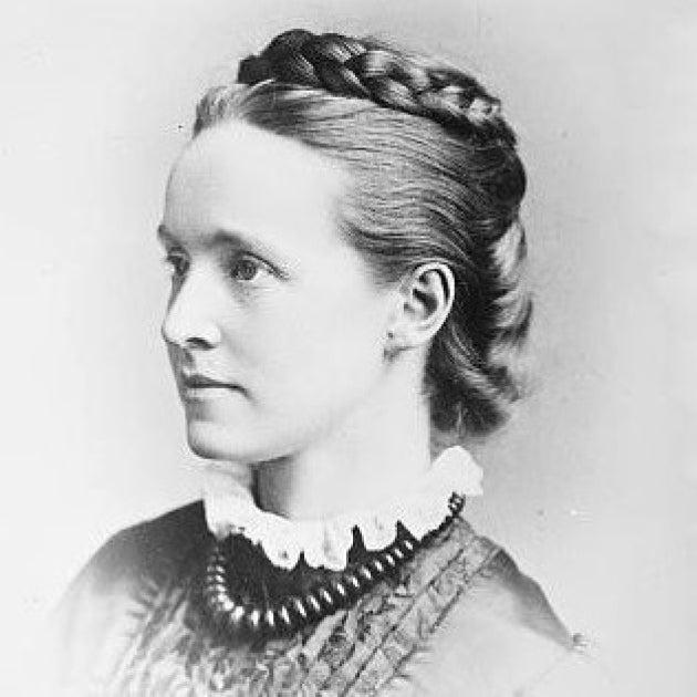 Black and white photograph of Millicent Garrett Fawcett