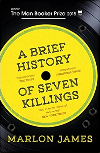 Book cover for  A Brief History of Seven Killings, winner 2015