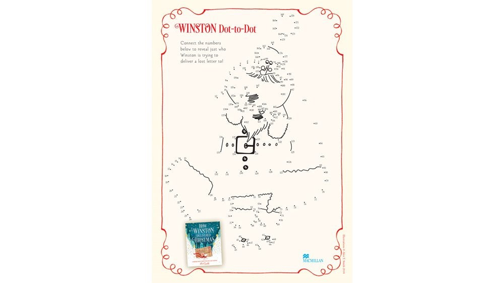 How Winston Delivered Christmas dot-to-dot activity sheet