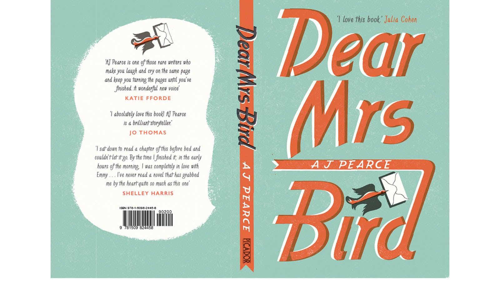 Dear Mrs Bird jacket - front and back.