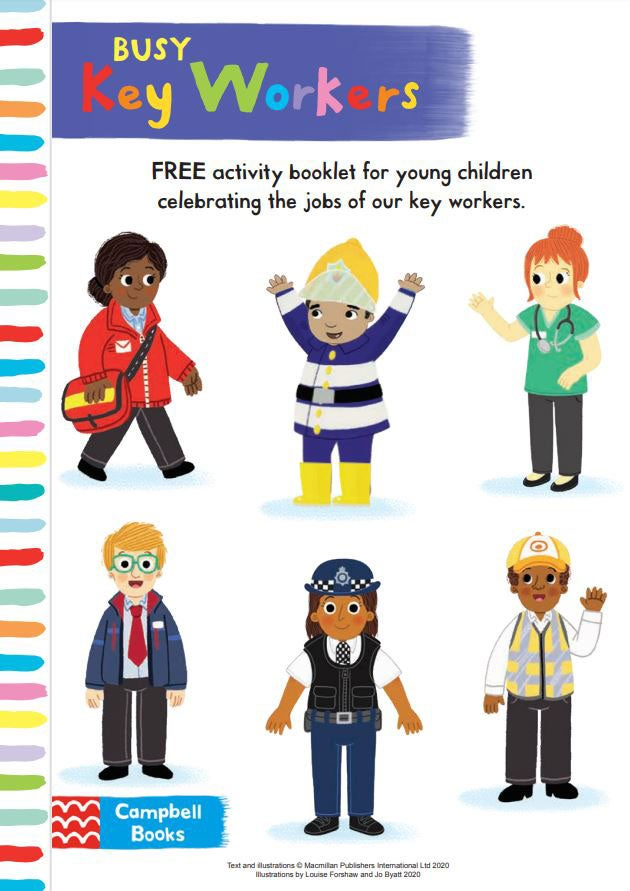Activity Sheet - Key workers activity pack - Busy Books - Campbell Books