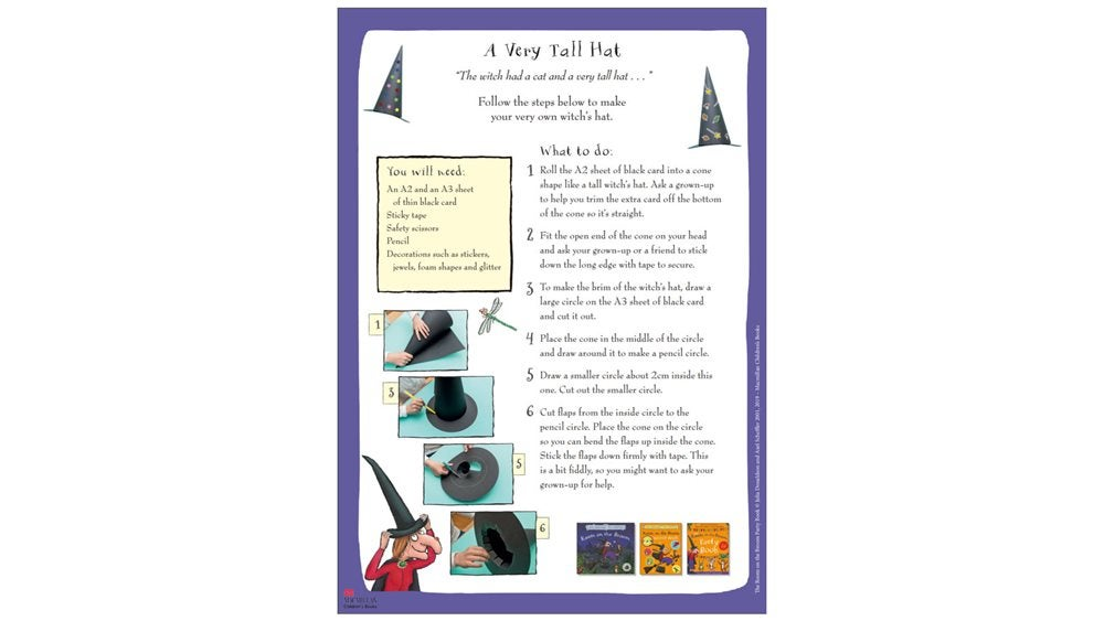 Activity Sheet - Room on the Broom hat DIY